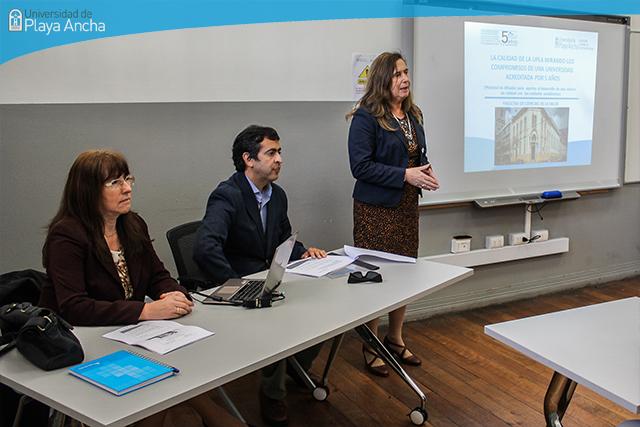 DIRGECAL realiza jornada de información para aportar al desarrollo de una cultura de calidad en Facultad de Ciencias de la Salud