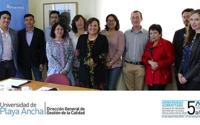 Equipo de DIRGECAL se reúne con Coordinadores y Coordinadoras Generales de Calidad de Facultades y Campus San Felipe en el marco de los procesos de autoevaluación de la UPLA