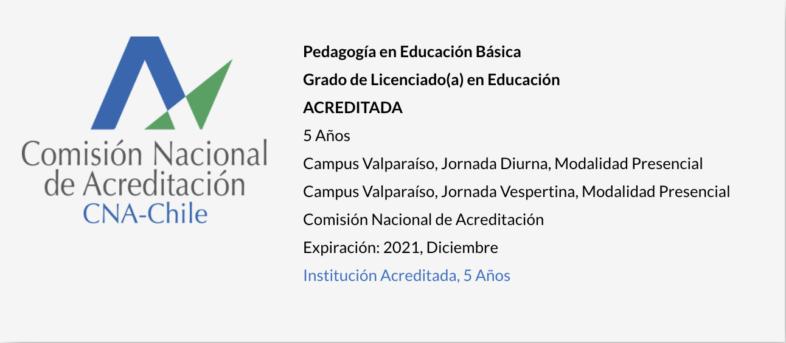 Pedagogía en Educación Básica UPLA - Acreditada