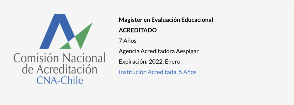 Magíster en Evaluación Educacional UPLA - Acreditado