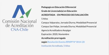 Pedagogía en Educación Diferencial UPLA - Acreditada
