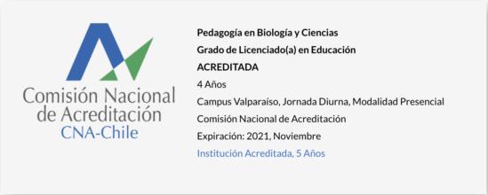 Pedagogía en Biología y Ciencias UPLA - Acreditada