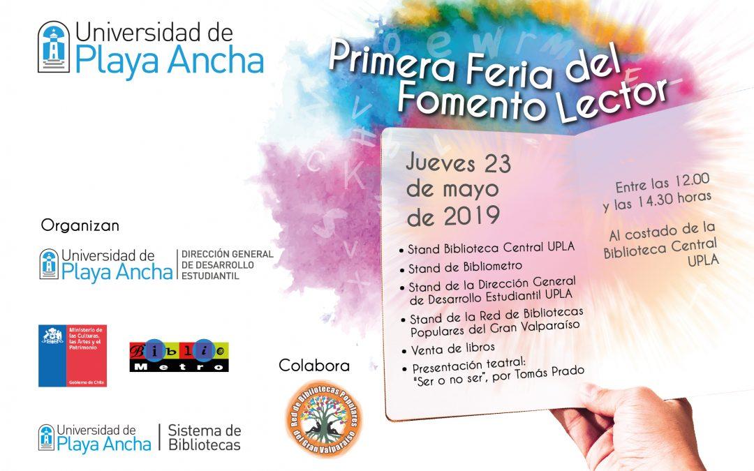 Jueves 23 de mayo: UPLA tendrá su Primera Feria del Fomento Lector