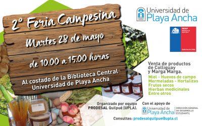 28 de mayo: UPLA tendrá segunda versión de su Feria Campesina