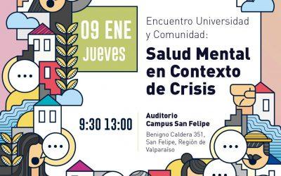 9 de enero en UPLA San Felipe: Jornada abordará salud mental en contexto de crisis