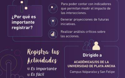 DGVM invita a académicos a registrar actividades de vinculación con el medio
