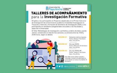 Invitación a Ciclo de Talleres de Acompañamiento para la Investigación Formativa