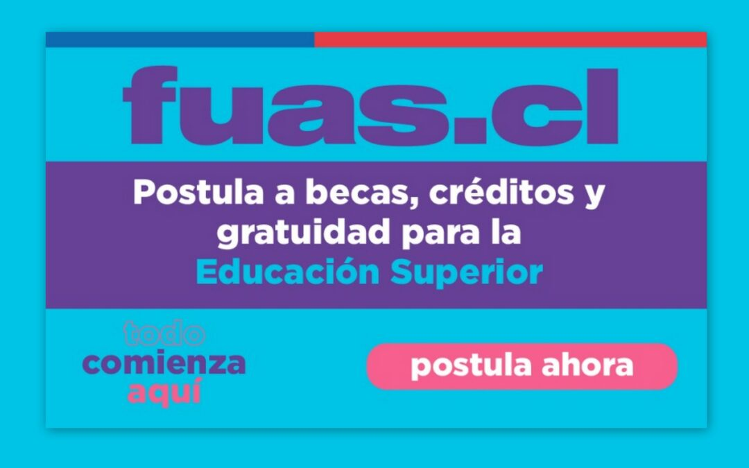 FUAS 2021: Abierto segundo proceso de postulación a beneficios estudiantiles para la Educación Superior