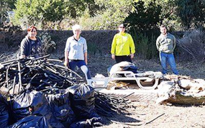 Comenzaron jornadas de limpieza colaborativa en Humedal Estero El Sauce de Laguna Verde