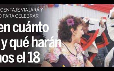 Establecen cuánto gastarán y qué harán los chilenos el 18