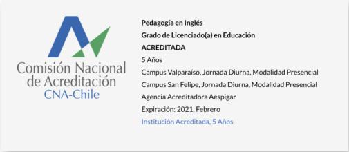 Pedagogía en Inglés UPLA - Acreditada