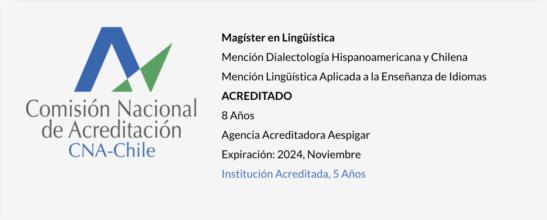 Magíster en Lingüística UPLA - Acreditado