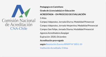 Pedagogía en Castellano UPLA - Acreditada