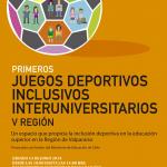 Universidad de Playa Ancha - Inclusión - Diferentes somos todos - Juegos deportivos inclusivos interuniversitarios
