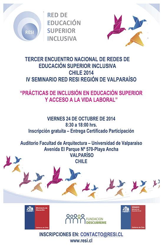 Universidad de Playa Ancha - Inclusión - Encuentro RESI octubre de 2014