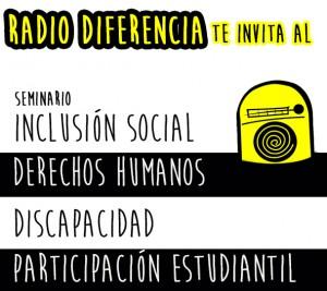 afiche seminario RADIO DIFERENCIA 7 ABRIL