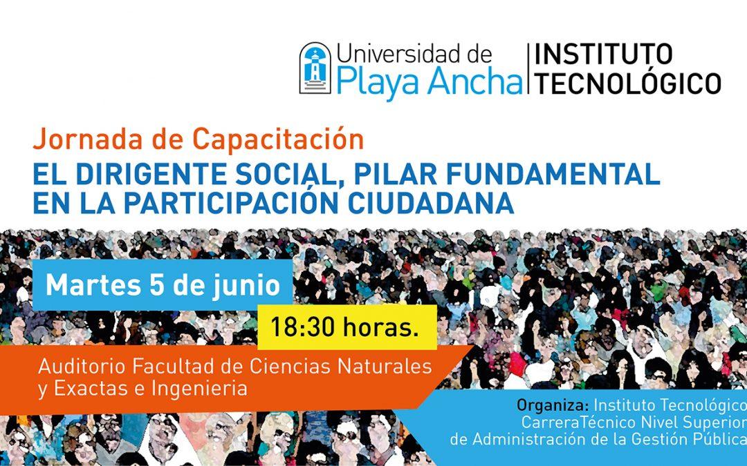 Instituto Tecnológico de la UPLA realizará capacitación sobre el rol del dirigente social en la participación ciudadana