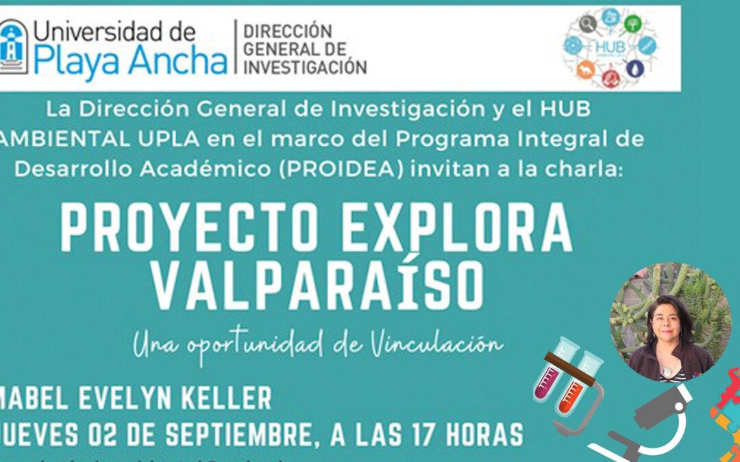 Afiche charla sobre Proyecto Explora Valparaíso