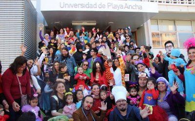 Padres e hijos protagonizaron un carnaval en la UPLA