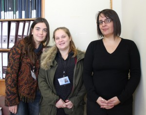 Francisca Álvarez, Germaine Vega y Eva Soto