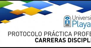 Universidad de Playa Ancha - Protocolo Prácticas Profesionales Carreras Disciplinarias
