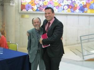 Oscar Quiroz y exalumno