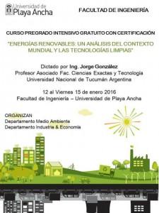 afiche curso energías renovables