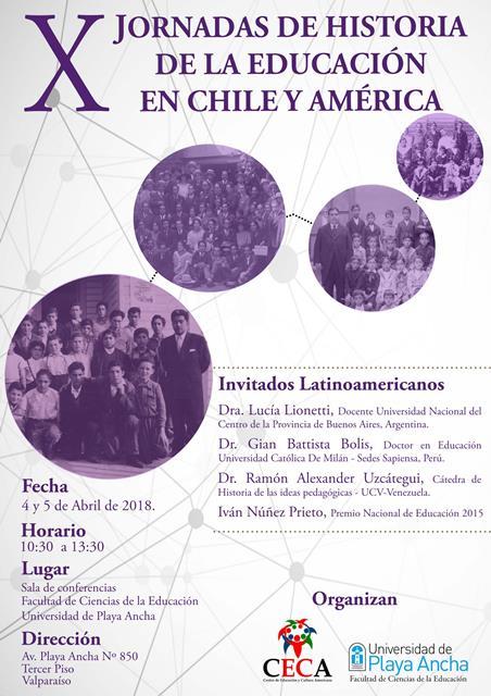 X Jornadas de Historia de la Educación en Chile y América
