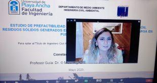 Estudiante UPLA defendió tesis virtualmente