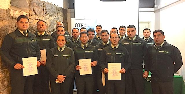 OTEC UPLA capacitó a Gendarmería de Chile