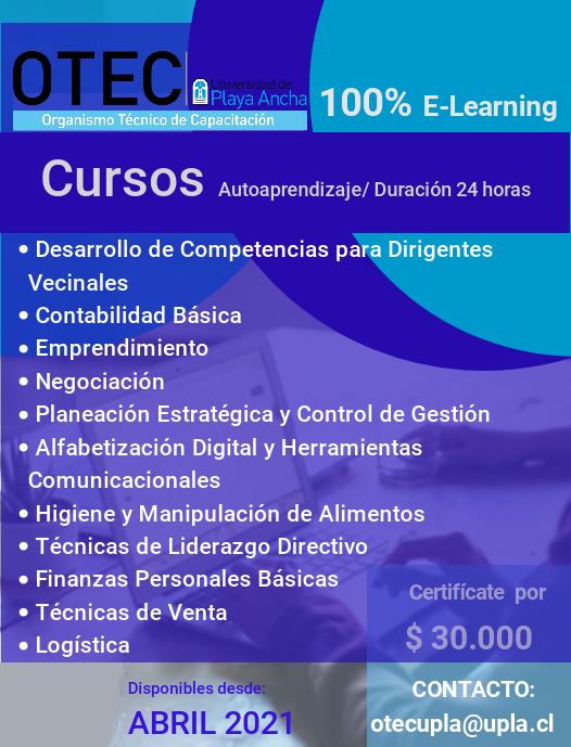 Cursos OTEC-UPLA - Abril 2021