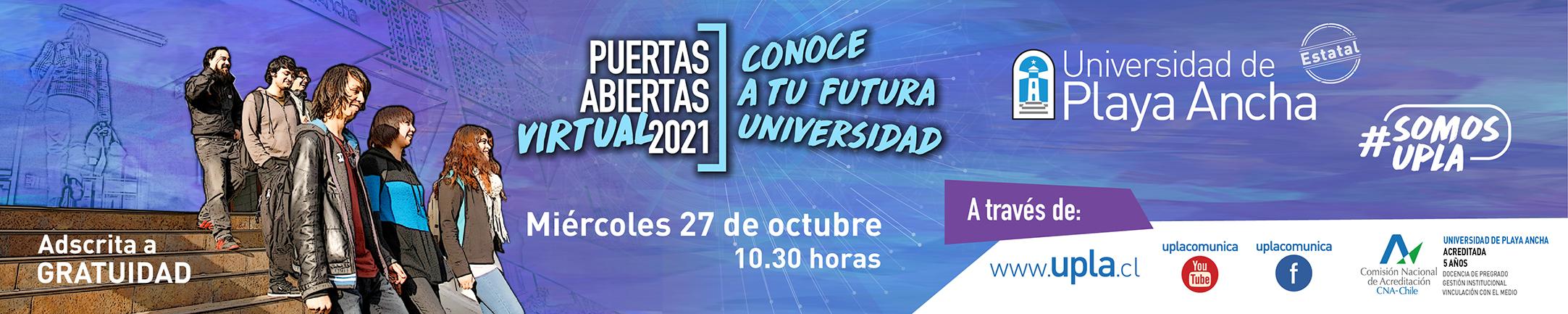 Puertas abiertas UPLA 2021