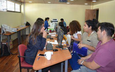 Alta afluencia de estudiantes en proceso de matrículas del campus San Felipe