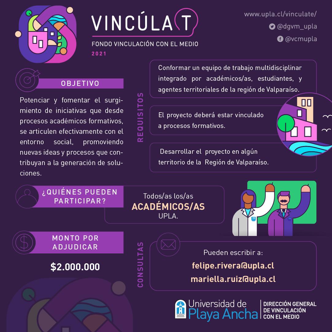 Fondos concursables VcM UPLA 2021 - Académicas y académicos