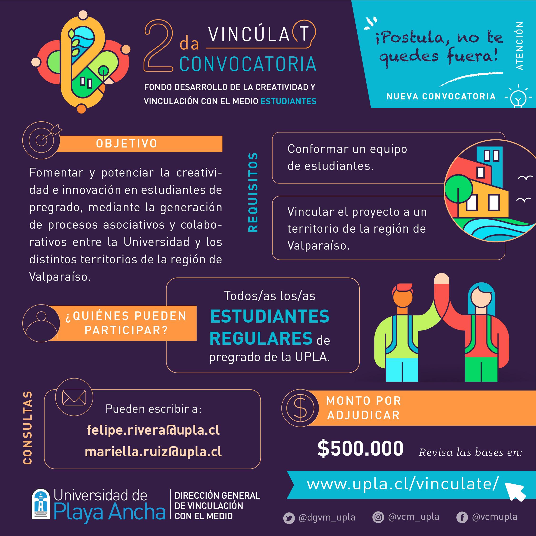 Fondo concursable VcM 2021 - Estudiantes